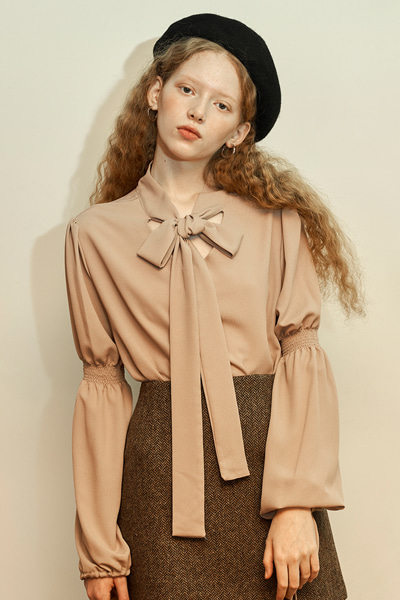 [fw 10% sale] janet string blouse beige