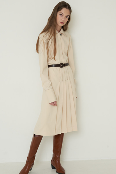 [2020ss mid sale 50%]yel onepiece beige