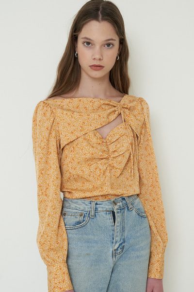 [윤보미 착용]joo blouse yellow