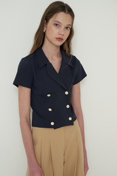te blouse navy